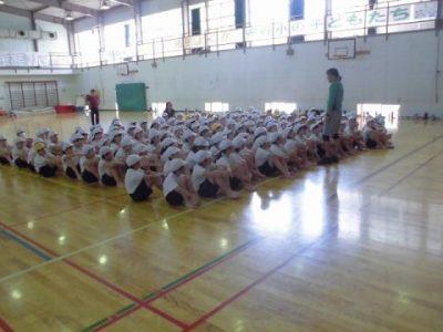 運動会に向けての練習 6年生