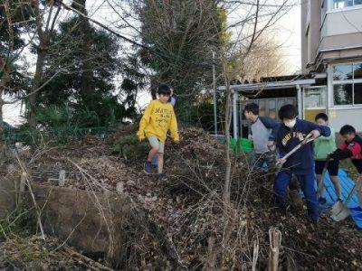 畑の土づくりとカブトムシ(環境委員会)1月9日(木)