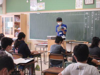 分散登校中の授業風景