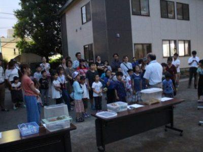 7月24日(水)ホタル鑑賞会 200名を超える参加がありました