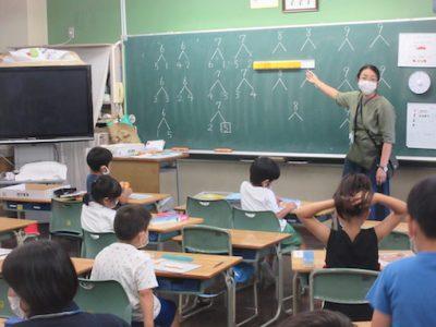 分散登校中の授業風景(算数)