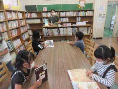 1年生 図書室の使い方 交通安全教室 7月16日(木)
