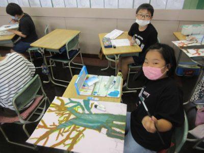 図工の絵画 4年生 5年生